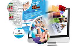 Create Leaflet & Flyer Designs online or Upload your own